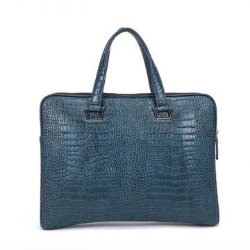 [TAITRA] [continuita]Omdi Genuine Leather Crocodile Stripe Briefcase