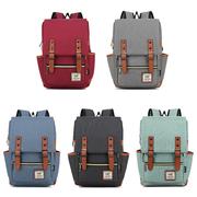 [Wenjie] กระเป๋าเป้สะพายหลัง สไตล์นักเรียนอังกฤษ (ขนาดกลาง) มีให้เลือก 5 สี