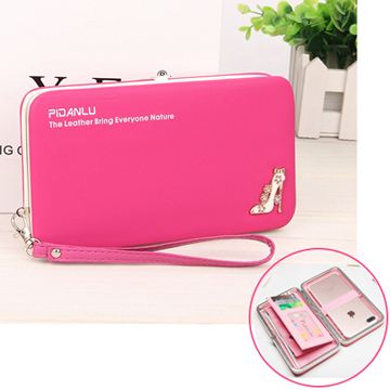 Korean version of the large-capacity snap cell phone wallet