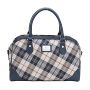 (Kinloch Anderson)[King Anderson] Boston Bauer Island travel classic checkered shoulder 2Way- Weihai blue (KA170601NYF)