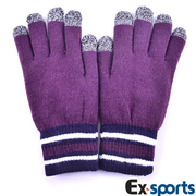 (Ex-sports)Ex-sports multifunction touch gloves wisdom (female section -G04- Deep Purple)
