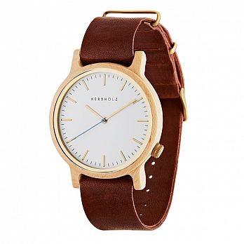 (KERBHOLZ) Walter นาฬิกาขนาด 40 mm สายหนัง สีเมเปิล