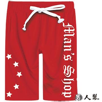 [ผู้ชายช่วย] กางเกงขาสั้นตัวอักษรภาษาอังกฤษแบบอเมริกันอาร์คสตาร์ (K0435) สีแดง