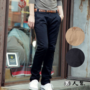 (ผู้ชายช่วย-K0372 เคาน์เตอร์ของ modern ธรรมดา high-even Edition กางเกงลำลอง-สีกากี