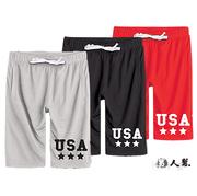 [FHM] สหรัฐอเมริกาดาวกางเกงขาสั้น (K0438) สีแดง