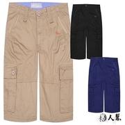 (แก๊งค์ชาย) [FHM] K0383 * [สไตล์อเมริกันแบบสบาย ๆ สูงปอนด์ผ้าหนากางเกงขาสั้นเชือกทำงานแข็งหนักซักผ้าสีฟ้า]