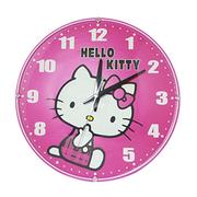 [TAITRA]  Hello Kittyแมวคิตตี้/สีชมพูสุดน่ารัก/หน้าปัดทรงกลม/นาฬิกาแขวนเสียงเงียบ/JM-W569KT