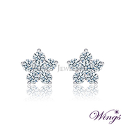 (WINGS)Wings colorful Something New fine needle-plated white K gold earrings