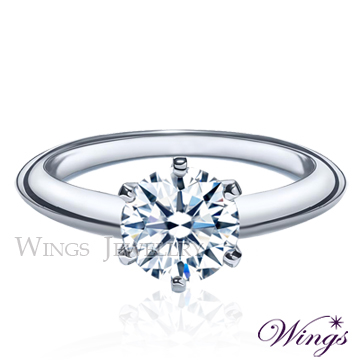 (WINGS)Wings Top Eight Hearts Eight Arrows Corner Classic Classic Six Cropped Zircon Plated White Gold Gold Ring Gold Ring