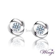 (WINGS)Wings geometric earrings imported fashion wear cubic zirconia earrings