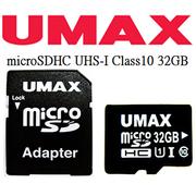 UMAX MicroSDHC C10 UHS-I 32GB memory card