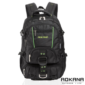 [TAITRA] AOKANA buckle made in Taiwan Water resistant backpack Spine protection, relaxation and light weight 68-074 (Green / black)