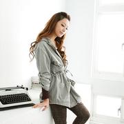 【Ninisweety】1011435厚款寬鬆四大口袋收袖外套(淺灰色S)