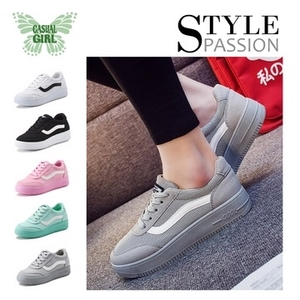 """(CASUAL GIRL)CASUAL GIRL """"Sunshine Girl"""" increased slip breathable casual shoes (gray)"""