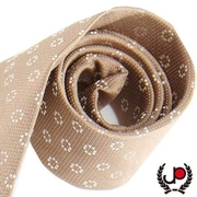 (JYI PIN)【Need for suit】 retro flower point light gold silk tie (YT0018)