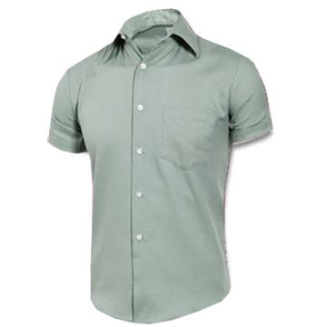 (MURANO)[MURANO] plain stained casual short-sleeved shrimp - light green