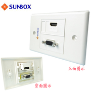 [TAITRA] SUNBOX VGA Faceplate Outlet (WP-1HV)