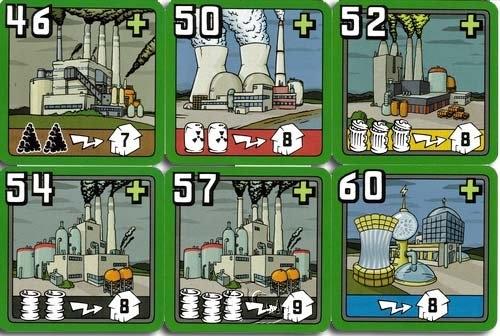 [Neuschwanstein table games] Power Company: New plant Card Power Grid: The New Power Plant Cards- Chinese version