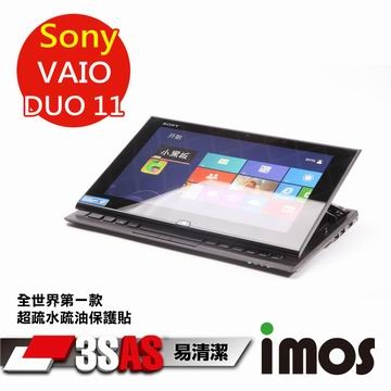 """[TAITRA] iMOS 3SAS Water Repellent, Anti-fingerprint, Hydrophobic & Oleophobic Coating Screen Protector for Sony Vaio Duo 11"""" Tablet"""