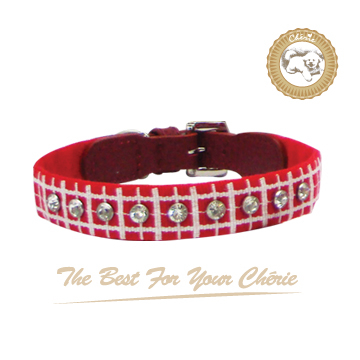 (Chérie)Cherie crystal diamond fashion series of classic plaid collar