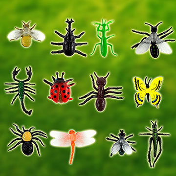 [TAITRA] 12 Pieces Insect Toy Figure (ST505)