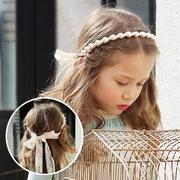 (unico)UNICO Korean children hair hoop fashion pearl lace straps