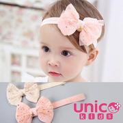 (UNICO)UNICO Korean children big bow ribbon star satellite network yarn