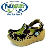 (Polliwalks)Polliwalks shoes - Crocodile (Camouflage Green)