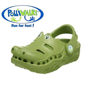 (Polliwalks)Polliwalks shoes - Crocodile (olive green)