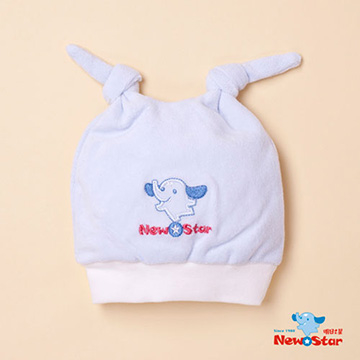 (New Star)Baby hat - pink, light blue color options (double knot)