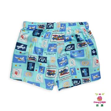 (Anny pepe)Boy blue car flat pants 110cm ~ 160cm