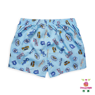 (Anny pepe)Boys Blue Badge flat pants 110cm ~ 160cm