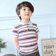 """(ท็อปส์เสื้อโปโลเสื้อกล้ามสีพื้นลายผู้นำ) """"Azio Kids American Pie"""" เสื้อยืดเสื้อโปโลสีพื้นลีดเดอร์เสื้อยืดลายผู้นำ (สีขาว)"""