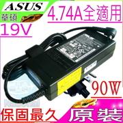 หม้อแปลง ASUS 19V, 4.74A, 90W, A8, F8, F50, F80, A3, A40, A42, A52, X43, X50, X52, X60, X55, X71, X72, W3, W5, V3