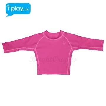 (i play)American i play baby long sleeves sunscreen - pink
