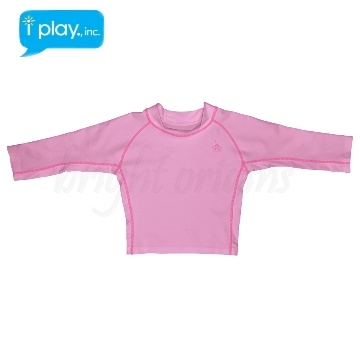 (i play)The United States i play baby long-sleeved sun clothing - tender pink