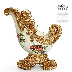 (Athena) [Athena] เฟอร์นิเจอร์ย้อนยุคยุโรปชั้นวางไวน์ - รอยแตกน้ำแข็ง hibiscus ดอกไม้ (27 เซนติเมตรสูง)