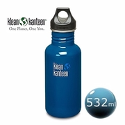 (Klean Kanteen)US Klean Kanteen stainless steel bottle 532ml- Currie Blue Earth
