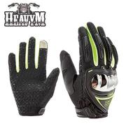 (HeavyM)[Music goods. HeavyM] AXIO heavy machine touch-screen all-finger anti-skid gloves (green)