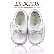 (LS-KIDS) [LS-KIDS] รองเท้าเด็กวัยหัดเดินทำด้วยมืออย่างประณีต - รองเท้าเด็กเรแกน - มิลค์ไวท์