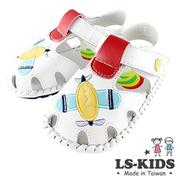 (LS-KIDS) [LS-KIDS] รองเท้าเด็กวัยหัดเดินทำด้วยมือที่สวยงาม - ชุดอากาศยานทำ - สีขาวสมาร์ท