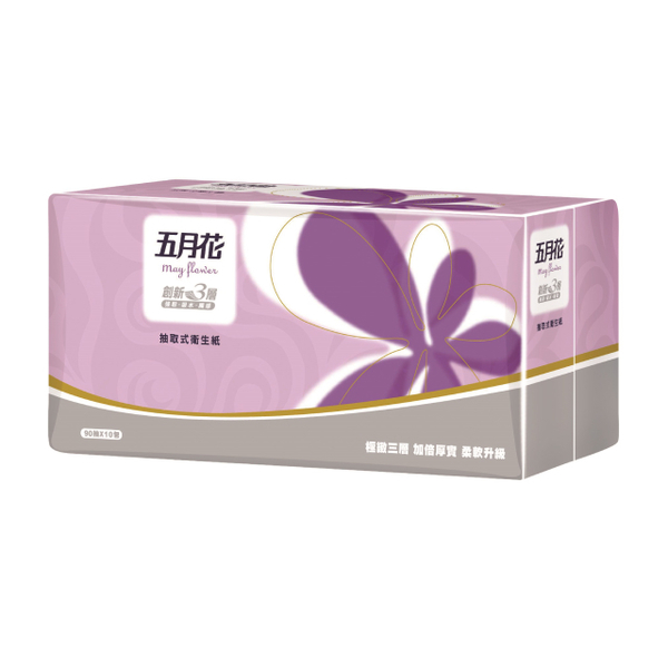 [TAITRA] [May Flower] Three-Layers Tissue Paper (90 Sheets/Pack x 10 Packs)