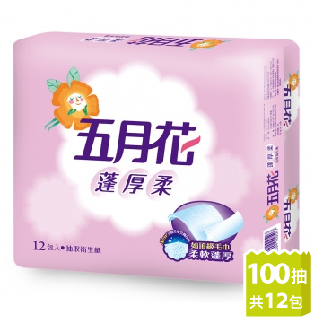 [TAITRA] [May Flower] Thick & Soft Tissue Paper (100 Sheets/Pack x 12 Packs)