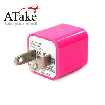 [TAITRA] ATake-AC Power to USB Power Adapter (Fluorescent Pink)
