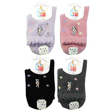 [TAITRA] PeterRabbit Embroidered Small Children Socks -SK5712-2 Pax