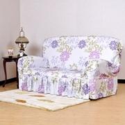 [TAITRA]  glam home collection-ผ้าคลุมโซฟา 1 ที่นั่ง ลายดอกไม้ - สีม่วง