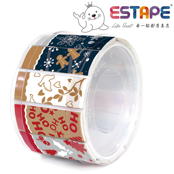 [TAITRA] 【Seal King】Easy-Remove ESTAPE (Drawing-Type OPPTape /Colorful Combination)