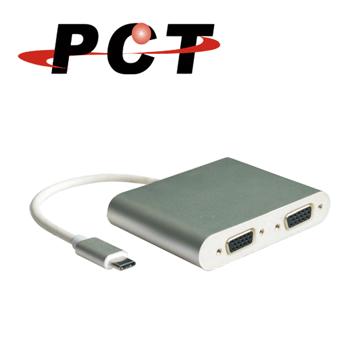 (PCT)[PCT] USB type-C to 2-port VGA adapter / distributor (UVS302)