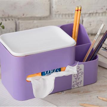 4 color creative tissue storage box Office