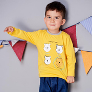 (Disney)Disney baby Pooh series Variety long-sleeved shirt - mustard